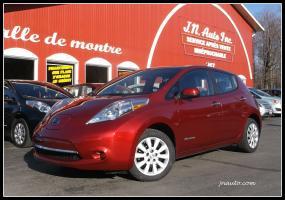 Nissan Leaf 2015 S+ 6.6 kw**EN TRANSIT** Recharge 110v,220v et chademo 400v  $ 17935