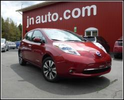 Nissan Leaf  2015 SL Premium, GPS + int.en cuir,Bose, Recharge 110v,220v et  400v $ 23935