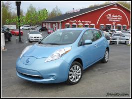 Nissan Leaf  2014 S+ 6.6 Kw , **EN TRANSIT** recharge 110v,220v et chademo 400v $ 17435