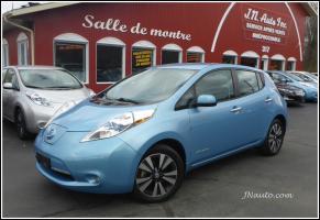 Nissan Leaf 2015 SL Premium,Bose/Cam 360, Cuir + GPS 6.6 kwh,Recharge 110v/220v et  400v,  $ 22935