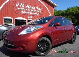 Nissan Leaf  2014 S+ 6.6 kw Recharge 110v,220v et chademo 400v $ 18435